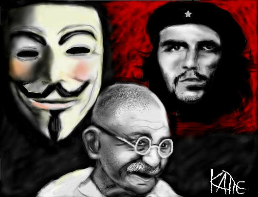 Mahatma Gandhi, Che Guevara by soleil4ever